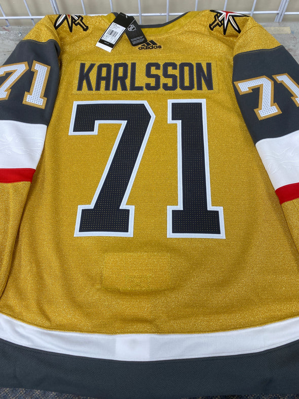 ANY NAME AND NUMBER VEGAS GOLDEN KNIGHTS THIRD GOLD AUTHENTIC PRO ADIDAS NHL JERSEY
