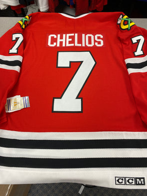 MAKE AN OFFER - CHRIS CHELIOS CHICAGO BLACKHAWKS CCM VINTAGE JERSEY SIZE L - Hockey Authentic