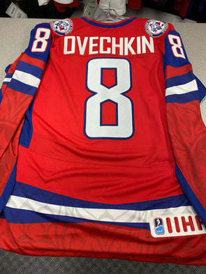 MAKE AN OFFER - ALEX OVECHKIN TEAM RUSSIA 2010 OLYMPICS NIKE JERSEY SIZE M - Hockey Authentic