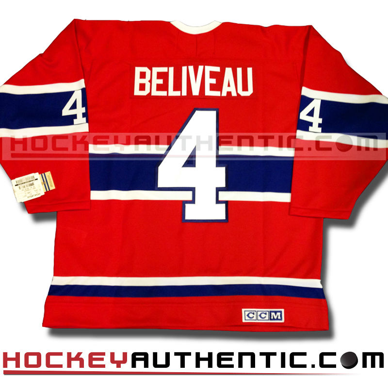 official photos 05b8e 01254 JEAN BELIVEAU MONTREAL CANADIENS CCM VINTAGE 1968 REPLICA NHL JERSEY -
