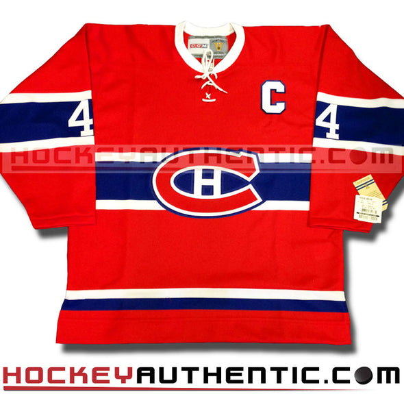 JEAN BELIVEAU MONTREAL CANADIENS CCM VINTAGE 1968 REPLICA NHL JERSEY - Hockey Authentic