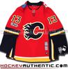 Johnny Gaudreau Calgary Flames home Adidas Adizero authentic pro jersey 100th NHL patch
