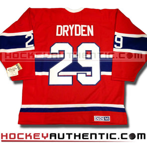 KEN DRYDEN MONTREAL CANADIENS CCM VINTAGE 1971 REPLICA NHL JERSEY - Hockey Authentic