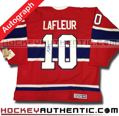 GUY LAFLEUR SIGNED MONTREAL CANADIENS CCM VINTAGE 1973 REPLICA NHL JERSEY - Hockey Authentic