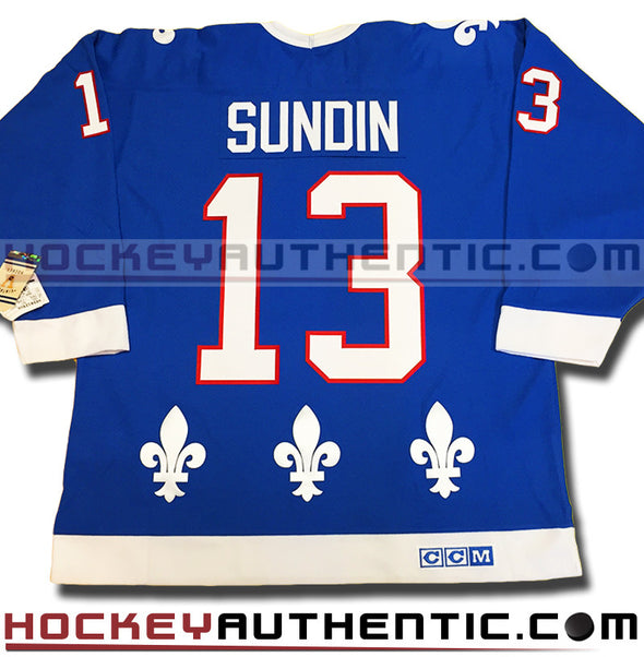 MATS SUNDIN QUEBEC NORDQUES CCM VINTAGE 1991 REPLICA NHL JERSEY - Hockey Authentic