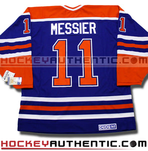 MARK MESSIER EDMONTON OILERS CCM VINTAGE 1990 REPLICA NHL JERSEY - Hockey Authentic