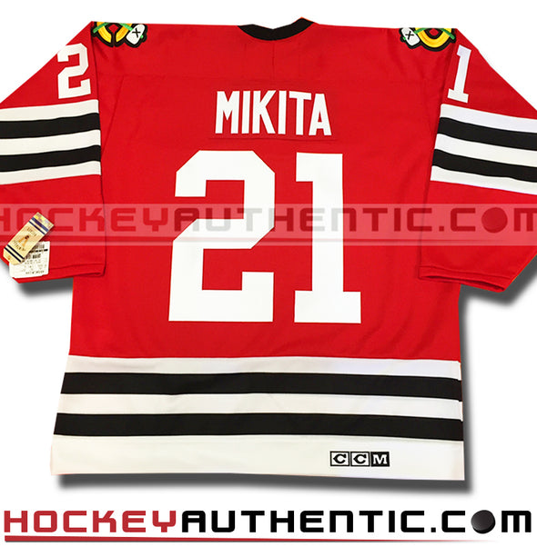 STAN MIKITA CHICAGO BLACKHAWKS CCM VINTAGE 1963 REPLICA NHL JERSEY - Hockey Authentic