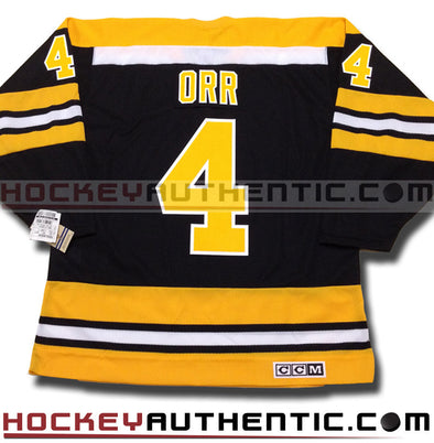 BOBBY ORR BOSTON BRUINS CCM VINTAGE 1970 REPLICA NHL JERSEY - Hockey Authentic
