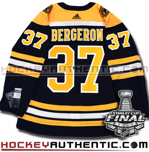 PATRICE BERGERON BOSTON BRUINS 2019 STANLEY CUP FINAL AUTHENTIC PRO ADIDAS NHL JERSEY
