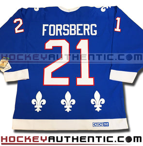 Peter Forsberg Quebec Nordiques 1992 CCM vintage jersey - Hockeyauthentic.com  - 1