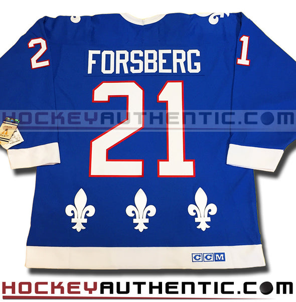 PETER FORSBERG QUEBEC NORDIQUES CCM VINTAGE 1992 REPLICA NHL JERSEY - Hockey Authentic