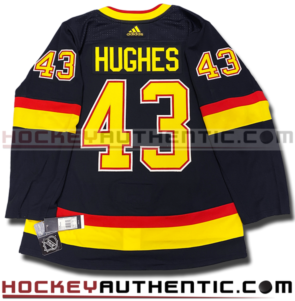 QUINN HUGHES VANCOUVER CANUCKS RETRO BLACK SKATE AUTHENTIC PRO ADIDAS NHL JERSEY - Hockey Authentic