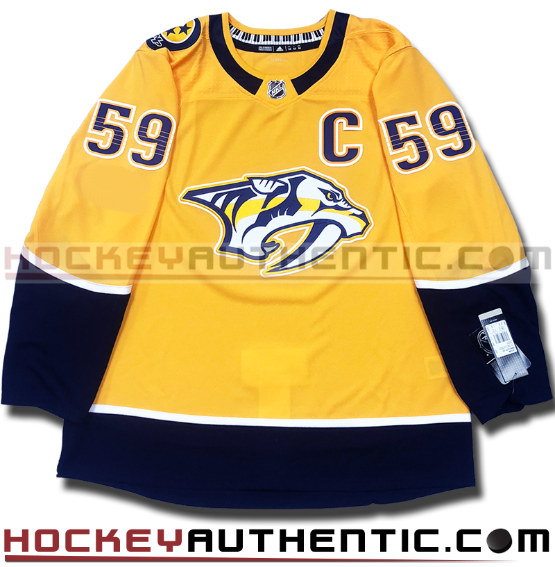 save off c2f81 08513 ROMAN JOSI NASHVILLE PREDATORS AUTHENTIC PRO ADIDAS NHL JERSEY