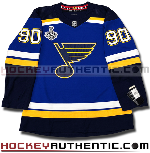 RYAN O'REILLY ST. LOUIS BLUES 2019 STANLEY CUP FINAL AUTHENTIC PRO ADIDAS NHL JERSEY - Hockey Authentic