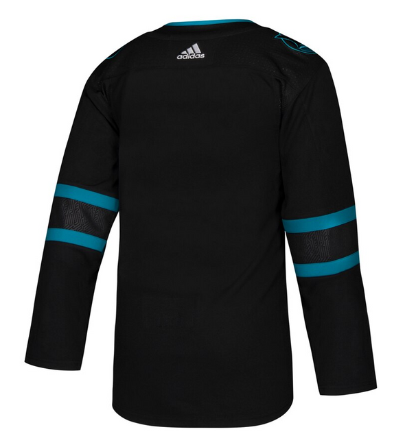SAN JOSE SHARKS THIRD STEALTH BLACK AUTHENTIC PRO ADIDAS NHL JERSEY