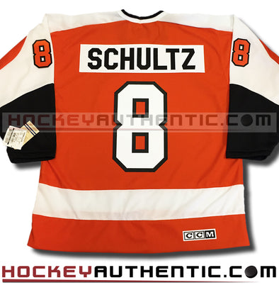 DAVE THE HAMMER SCHULTZ PHILADELPHIA FLYERS CCM VINTAGE 1974 REPLICA NHL JERSEY - Hockey Authentic