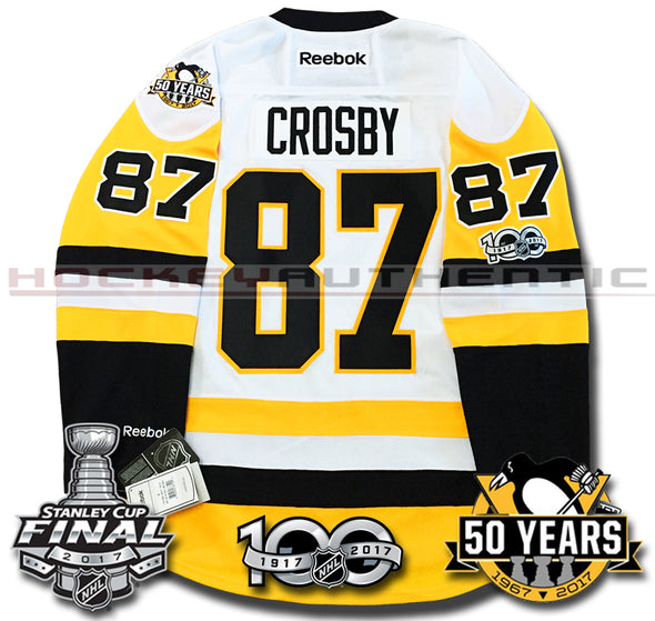 SIDNEY CROSBY PITTSBURGH PENGUINS 2017 STANLEY CUP FINALS PREMIER REEBOK NHL JERSEY