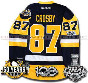 9eec67771f1 SIDNEY CROSBY PITTSBURGH PENGUINS 2017 STANLEY CUP FINALS PREMIER REEBOK NHL  JERSEY