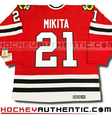 STAN MIKITA CHICAGO BLACKHAWKS CCM VINTAGE 1975 REPLICA NHL JERSEY - Hockey Authentic