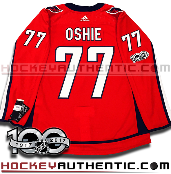 TJ OSHIE WASHINGTON CAPITALS AUTHENTIC PRO ADIDAS NHL JERSEY