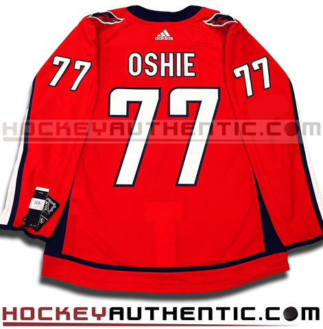 TJ Oshie Washington Capitals home Adidas Adizero authentic pro jersey