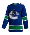 VANCOUVER CANUCKS HOME BLUE AUTHENTIC PRO ADIDAS NHL JERSEY