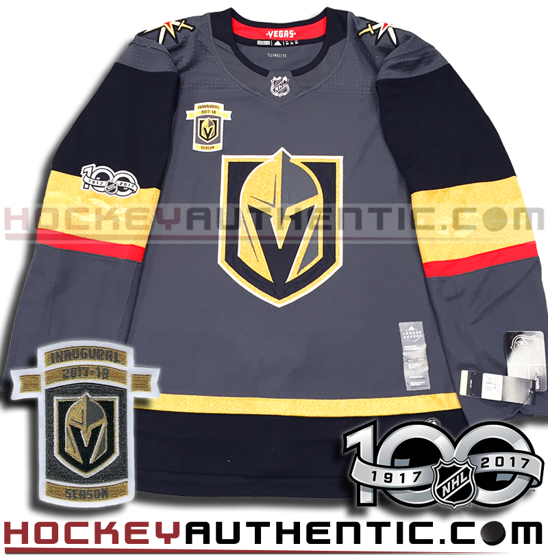 check out 31b1a fcbee VEGAS GOLDEN KNIGHTS AUTHENTIC PRO ADIDAS NHL JERSEY INAUGURAL EDITION -