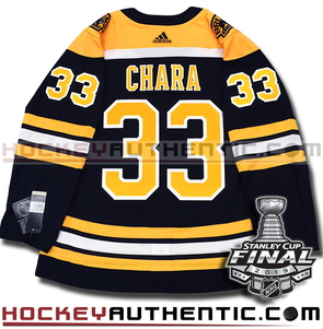 ZDENO CHARA BOSTON BRUINS 2019 STANLEY CUP FINAL AUTHENTIC PRO ADIDAS NHL JERSEY