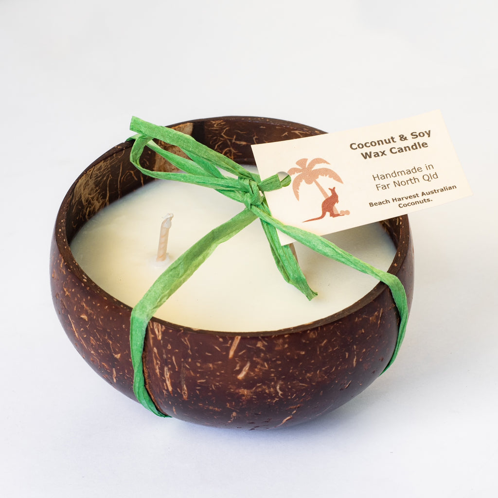 Coconut Candles - new! - Candle in reusable Coconut Bowl