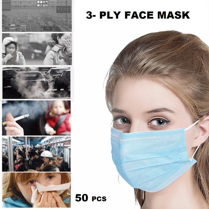 50PCS Disposable Earloop Face Masks