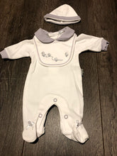 Load image into Gallery viewer, Tiny Baby Newborn or Premature Baby Outfit Unisex White & Grey