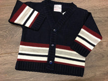 Load image into Gallery viewer, Baby Boy's Long Sleeved Cardigan Navy Blue