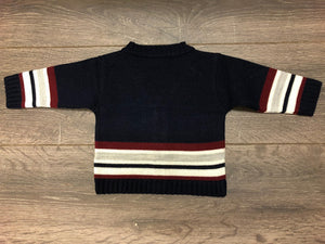 Baby Boy's Long Sleeved Cardigan Navy Blue
