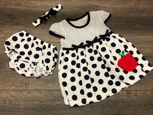 Baby Girl's Summer Dress & Pants & Headband