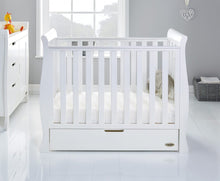 Load image into Gallery viewer, O Baby Stamford Space Saver  Sleigh Cot and Cot Top Chancer