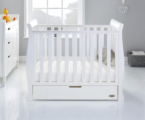 O Baby Stamford Space Saver  Sleigh Cot and Cot Top Chancer
