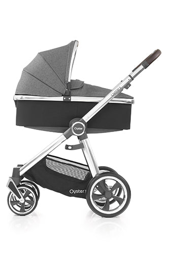 Babystyle Oyster Pram & Pushchair  Chrome / Mercury