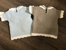 Load image into Gallery viewer, Baby Boy's & Girl's 3 Piece Portuguese Knitted Outfit