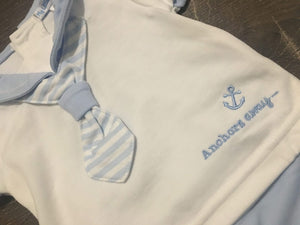 Baby Boy's Soft Cotton Sailor Suit Pale Blue
