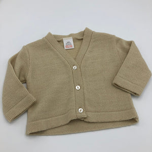 Baby Boy's or Girl's Cardigan- Beige