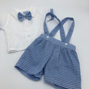Baby Boy's Summer 2 Piece Short Dungaree Outfit