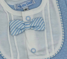 Load image into Gallery viewer, Baby Boy's All in One Suit with Bow Tie Pale Blue