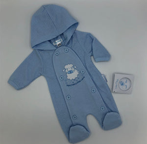 Premature Preemie Prem Tiny Baby Girl's or Blue Hooded Outfit- Pink or Blue