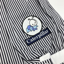 Load image into Gallery viewer, Baby Boy's Summer Romper Striped Pale Blue Navy White