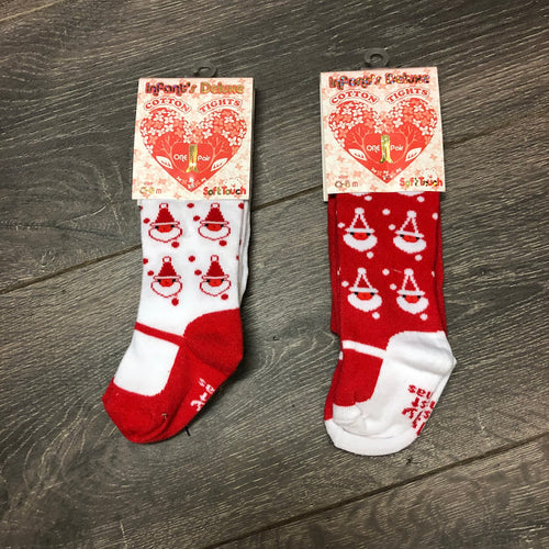 Baby's First Christmas Baby Girl's Tights- Santa design  New Arrival