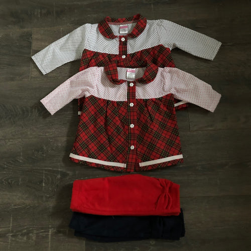 Baby Girl's Tartan Dress & Leggings