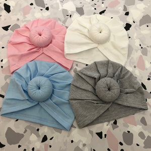 Baby Girl's Turban with Donut 0-6 Months