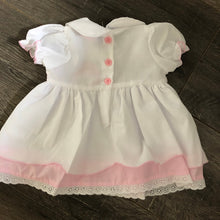 Load image into Gallery viewer, Baby Girl's Summer Dress with Leggings Pink & White