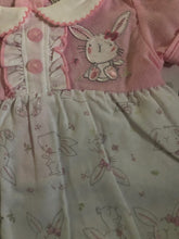 Load image into Gallery viewer, Baby Girl's 1 Piece Suit Pink & White with Bunny Design