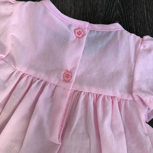 Baby Girl's Summer Dress Pink with Leggings